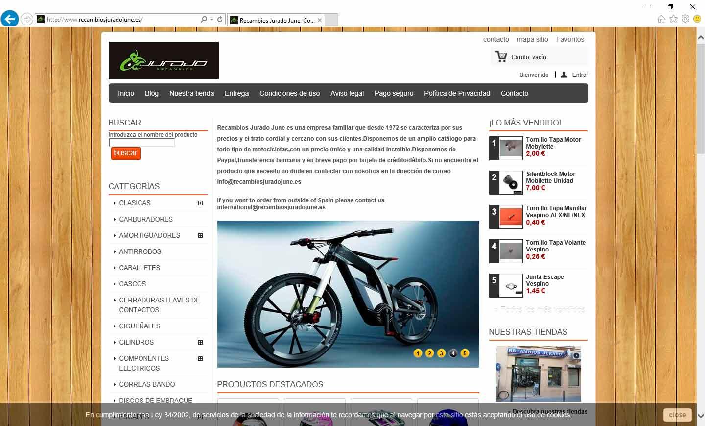 Comercio Electrónico – Tiendas on-line