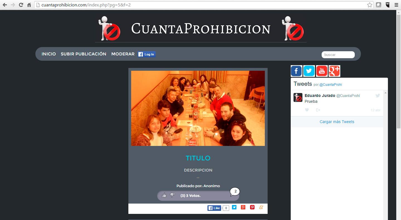 Todo a punto para el lanzamiento de nuestra Web www.cuantaprohibicion.com