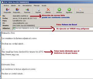 VIRUS muy peligroso en falsa factura de Excel - sepa como actua